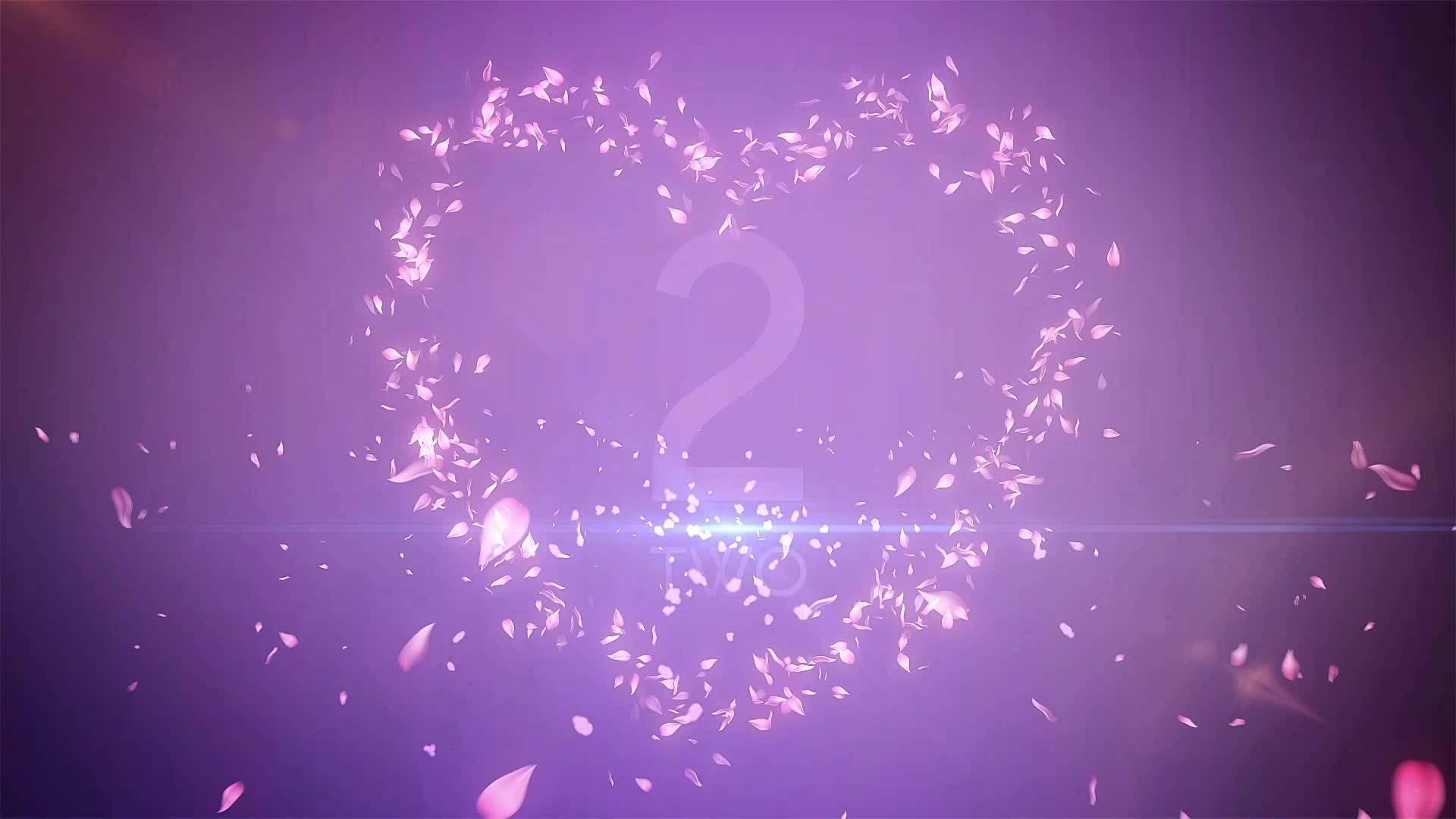 心形粒子紫色倒计时